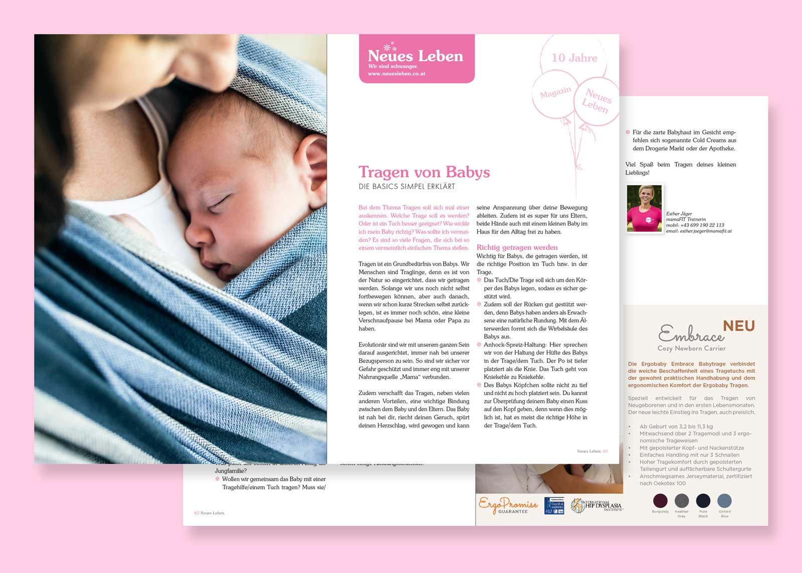 Tragen von Babys – Neues Leben