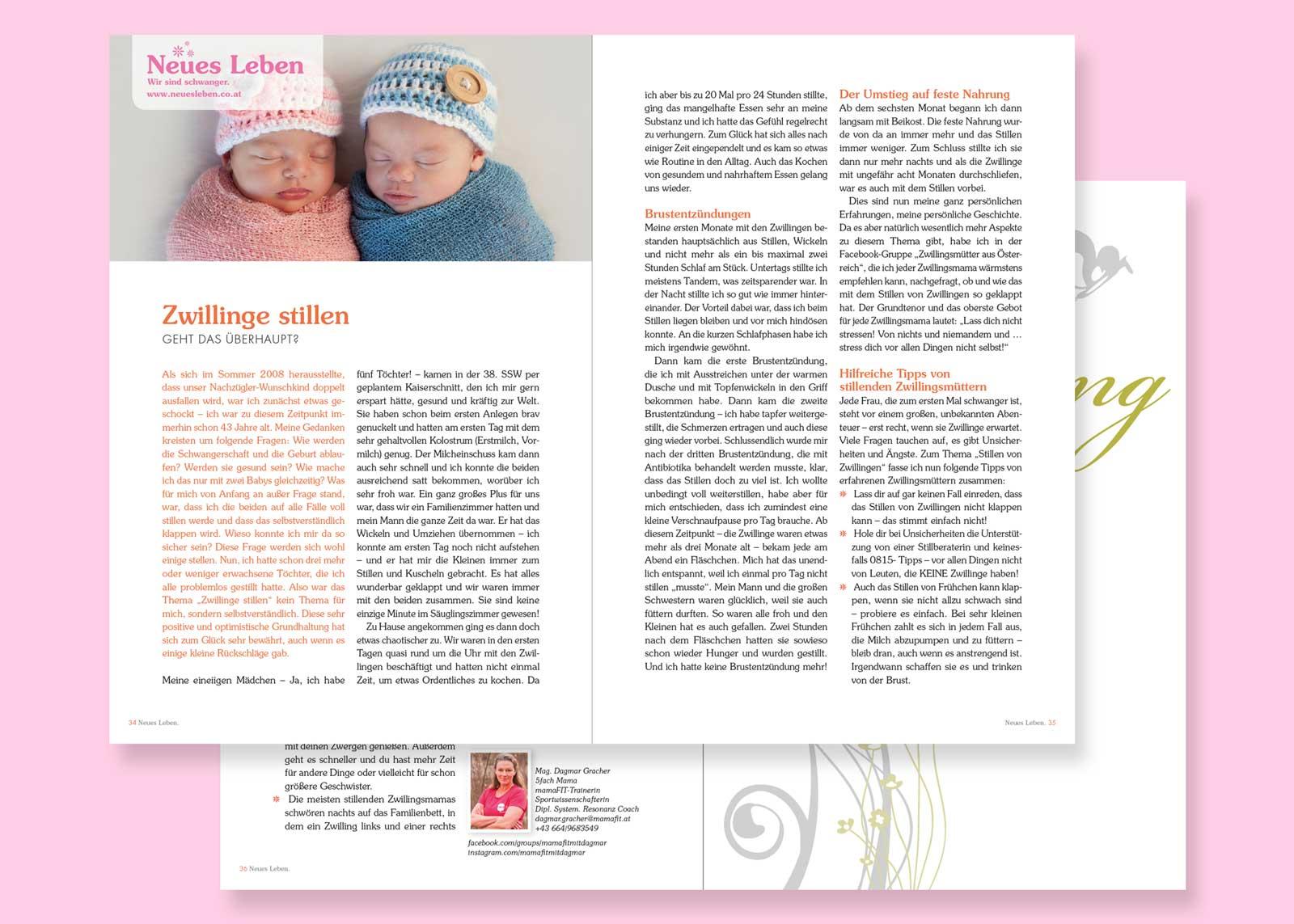 Zwillinge stillen – Neues Leben