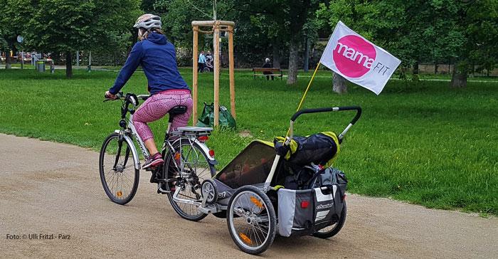 Radfahrerin in Wien